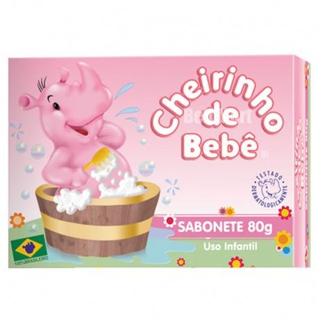 Cheirinho de Bebê Sabonete Rosa 80g