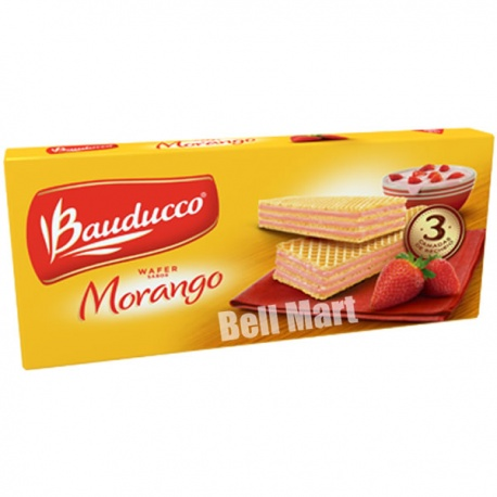 Bauducco Wafer Morango 100g