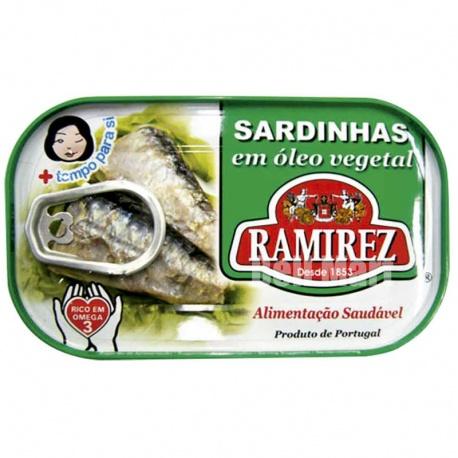 Ramirez Sardinhas em Óleo Vegetal 125g