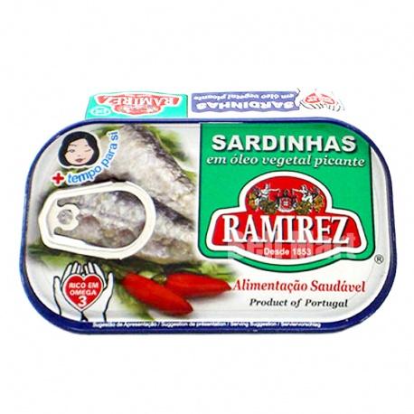 Ramirez Sardinhas em Óleo Vegetal Picante 125gr.