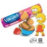 Visconti Biscoito Recheado Morango 125g