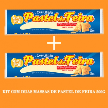 Kit Pastel de Feira 2 Massas Pastel 500g