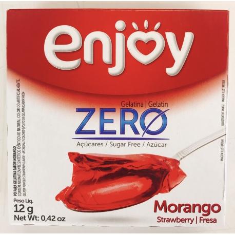Enjoy Gelatina Morango Zero Açucar 12g