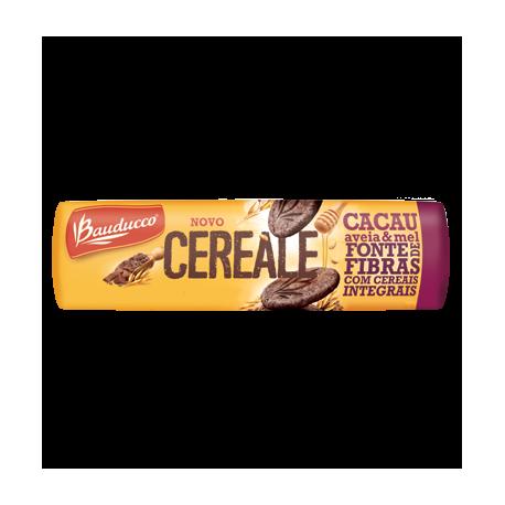 Bauducco Cereale Biscoito Integral com Cacau, Aveia e Mel 170g