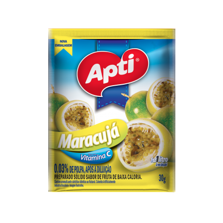 Apti Refresco em Pó Maracujá 30g