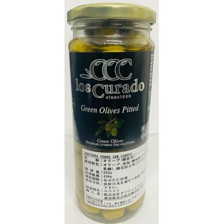Los Curado Azeitona Verde sem Caroço 245g