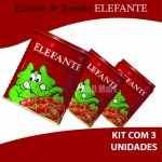 Kit Extrato de Tomate Elefante - 3 Unidades