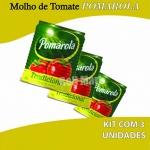 Kit Molho Pomarola Lata 340g - 3 unidades