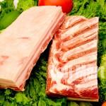 Costela de Porco sem Osso com Couro Bloco 1kg